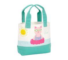 Sun Cat Preppy Icon Tote   Pottery Barn Kids