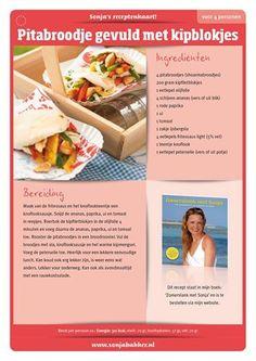 Sonja Bakker pitabroodje Healthy Low Calorie Meals, Good Healthy Recipes, Low Calorie Recipes, Healthy Choices, Healthy Snacks, Dutch Recipes, Cooking Recipes, Good Food, Yummy Food