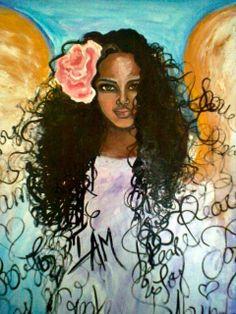 Angel of Manifestation Original Painting by Alma Yamazaki 36 x 24 on Etsy, $350.00