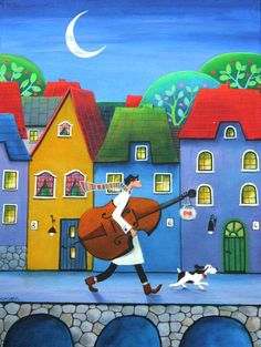 illustr.quenalbertini: Let's Play Cello Tonight by Iwona Lifsches | Google Search