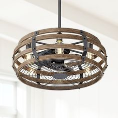 Casa Vieja Rustic Farmhouse Ceiling Fan with Light LED Remote Black Wood Cage for Living Room Kitchen Bedroom Family Dining – Ceiling Ceiling Fan In Kitchen, Kitchen Fan, Living Room Kitchen, Dining Room Ceiling Fan, Farmhouse Lighting, Rustic Farmhouse, Farmhouse Ideas, Chandeliers, Led Ceiling