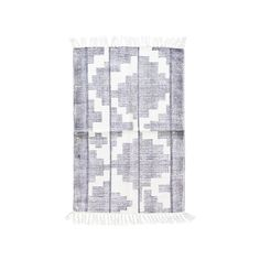 House Doctor Eve rug cotton black and white 90x200 cm
