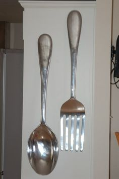 Giant Fork And Spoon For The Kitchen Well It Would Be A Conversation Starter