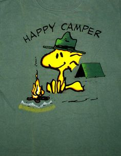 Woodstock Happy Camper T Shirt | Woodstock Happy Camper T-Shirt: Snoopn4pnuts.com