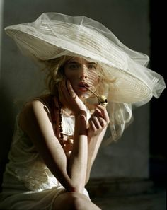 ⍙ Pour la Tête ⍙ hats, couture headpieces and head art - ethereal