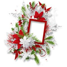 White_Christam_MoleminaScrap_cluster (9).png ❤ liked on Polyvore featuring christmas, frames, xmas, flowers, clusters, borders and picture frame