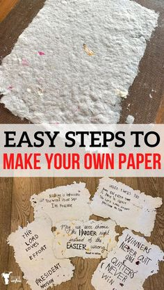 Easy steps to make your own paper! This is such a fun activity that you can do with your kids! Be creative and test different materials to see what works best. Learn how ancient China invented paper. Fun Crafts, Crafts For Kids, Arts And Crafts, Paper Crafts, Make Your Own, Make It Yourself, Train Up A Child, Activities For Kids, Activity Ideas