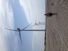 Hvide Sande, DK. Wind energy!