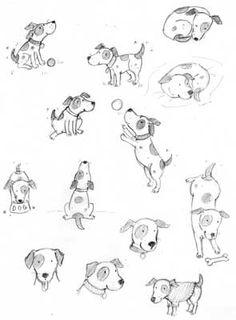 Dogs illustration cartoon animals new Ideas Animal Drawings, Pencil Drawings, Dog Drawings, Illustration Sketches, Illustrations, Dog Sketches, Cartoon Dog Drawing, Dog Tattoos, Dog Art
