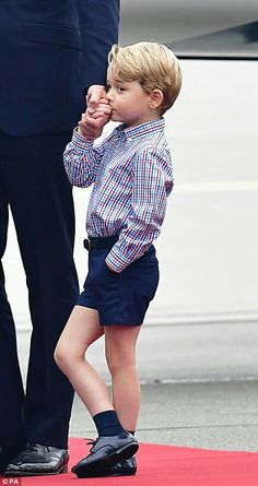 Prince George at the airport on arrival to Poland. July 17 2017