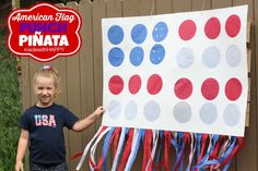 American Flag Punch Pinata - made with HAPPY