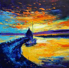 Sunset at Clachnaharry the Caledonian Canal 30x30 #JoLoMo