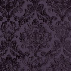 Damson Demask Damask Chenille Jacquard Fabric by the Yard | Mood Fabrics
