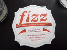 Drink coaster business card - Nice play off the company name.