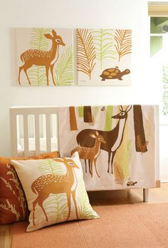 I'm thinking about a woodland theme for the nursery