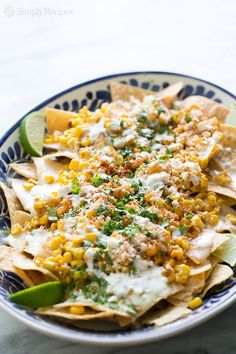 Mexican Street Corn Nachos from @simplyrecipes