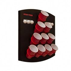 Oche Pong allows you to play a great variation of the classic party game beer pong on the wall, on a pop-up tailgate tent, or anywhere else you do not want to be limited by a table. This is where you decide to pass on that cumbersome table and play balls Man Cave Diy, Man Cave Home Bar, Man Cave Crafts, Man Cave Table, Men Cave, Geek Crafts, Diy Crafts, Man Cave Basement, Man Cave Garage