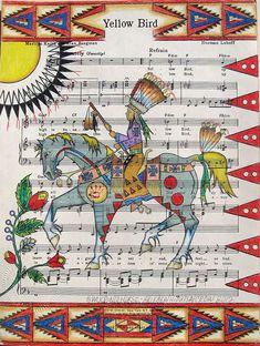 Yellow Bird Woman *Monte Yellow Bird Sr../Black Pinto Horse*