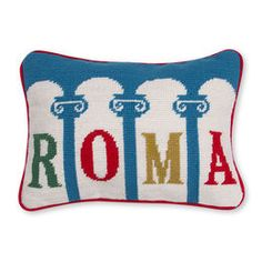Décor - Roma Needlepoint Throw Pillow