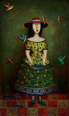 David Martiashvili. The girl with birds, 2011
