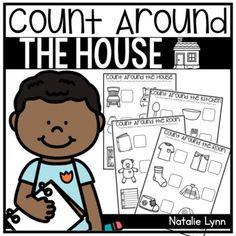 Count Around the House - Distance Learning by Natalie Lynn Kindergarten Preschool Activities At Home, Preschool Math, Math Classroom, Teaching Math, Google Classroom, Classroom Ideas, Home Learning, Learning Resources, Homeschool Kindergarten