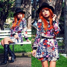 Look of the day: Say yes to the floral dress | LOOK AT ME BR Floral dress by #Romwe