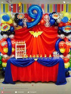 best ideas about Wonder Woman Superman Party, Girl Superhero Party, Wonder Woman Birthday, Wonder Woman Party, Birthday Woman, Wonder Woman Cake, Anniversaire Wonder Woman, Bday Girl, 1st Birthday Parties