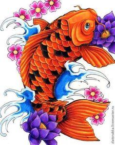 Вышивка ручной работы. Ярмарка Мастеров - ручная работа Рыба дракон Арована.Набор для вышивки бисером.. Handmade.