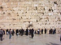 Western Wall, remaining portion of the wall of Solomon's temple, Jerusalem, Israel. Men and women pray in separate areas.