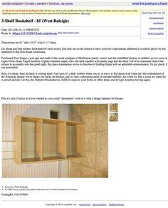 Craigslist Sale 1 Used Bookshelf