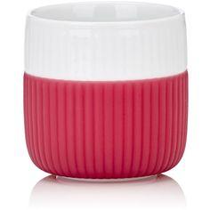 Royal Copenhagen Fluted Contrast Espresso Mug ($25) ❤ liked on Polyvore featuring home, kitchen & dining, drinkware, red, royal copenhagen, royal copenhagen mugs, espresso mugs, red mug and handmade mugs