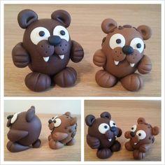 Bear Monsters https://www.facebook.com/DeeRaaArts polymer clay sculpey fimo super sculpey