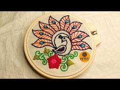 Hand Embroidery Videos, Embroidery Applique, Embroidery Patterns, Craft Videos, Hand Stitching, Peacock, Confirmation, Desi, Mandala