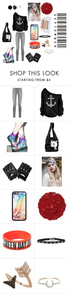 """""""When You Can't Sleep At Night"""" by smoorerocks ❤ liked on Polyvore featuring rag & bone, T.U.K., Illamasqua, Hot Topic, Bee Goddess and I+I"""