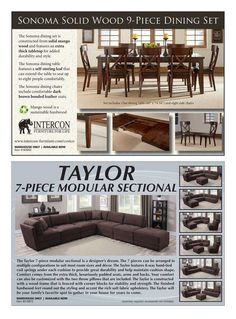 Taylor 7 Piece Sectional. The Costco Connection   January 2015   Page 90