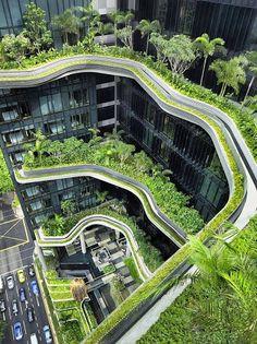 Parkroyal sky Garden Hotel in Singapore