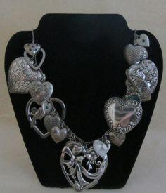 chock-full of charm on this gorgeous  Vintage Victorian Hearts Necklace & Bracelet by vintagecornucopia on #Etsy @vntgcornucopia