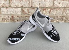 e0a37e2fd840 Oakland Raiders custom Nike Roshe sneakers