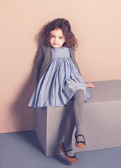 Sophie cardigan & vanessa dress #kidfashion #girl