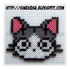 Animales - Animals - Cabeza gato - Cat head - PLANTILLAS Hama beads, Designs and Patterns Hama Beads