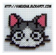 Animales - Animals - Cabeza gato - Cat head - PLANTILLAS Hama beads, Designs and Patterns Hama Beads