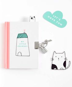 Keep your secrets safe with this cute Lockable Journal