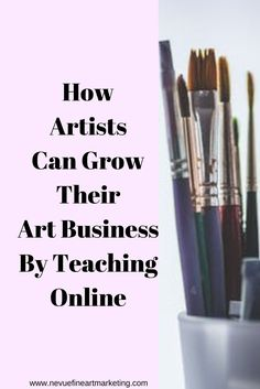 Would you like to take your art business to the next level? In this post, discover how artists can grow their art business by teaching online. Selling Art Online, Online Art, Education Degree, Education College, Business Portrait, Creating A Business, Artist Life, Teaching Art, Art Tips
