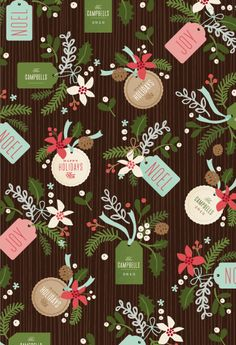 gift wrap - Winter pines by Jennifer Wick