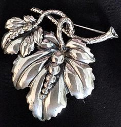 Vintage 1950s Sterling Silver Brooch by Jewel Art by bonitalouise