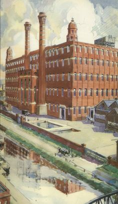 https://flic.kr/p/g8Ldpx | A Modern Cotton Mill 1937 | Watercolour from the book; Manchester...'heart of the Industrial North' Introduction by J.B. Priestley. Published by The Manchester Chamber of Commerce. Ship Canal House, King Street, Manchester 2.