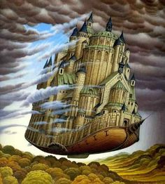 Yerka's paintings embody the warmth of childhood memory spliced with fantasy, creatures and feats impossible in time and space as we know it. Description from shewalkssoftly.com. I searched for this on bing.com/images