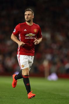 Luke Shaw of Manchester United during the Premier League match between Manchester United and Southampton at Old Trafford on August 19 2016 in...