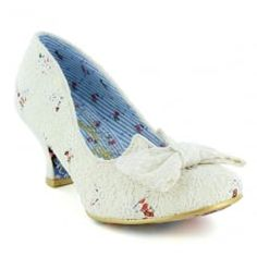 Irregular Choice 4136-07K Dazzles 2nd Razzle Womens Low Court Shoes - White