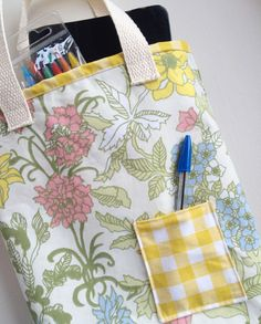 Sew up a quick Bible bag from vintage linens. SugarBeans.org